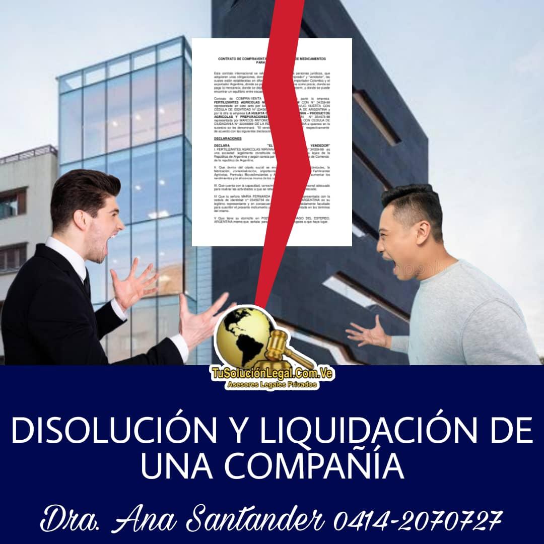 DISOLUCIÓN Y LIQUIDACIÓN DE UNA COMPAÑÍA